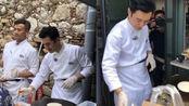 《中餐厅》正式开录,黄晓明路边做摊煎饼,王俊凯杨紫合力搬桌子