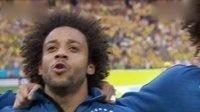 2014巴西世界杯每日进球小组赛 主场球迷高唱巴西国歌 大卫·路易斯热泪盈眶 140613