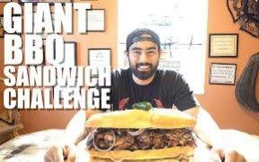 【肌肉男】Nathan挑战巨大烧烤三明治