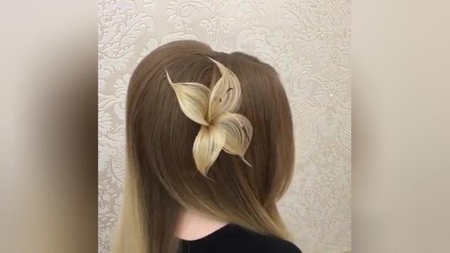 新年最佳招桃花法不是桃花树下走三圈,而是为自己编个百合花发型