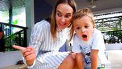 搞怪的尼基兄弟:弗拉德和妈妈去老虎乐园,和小老虎一起玩