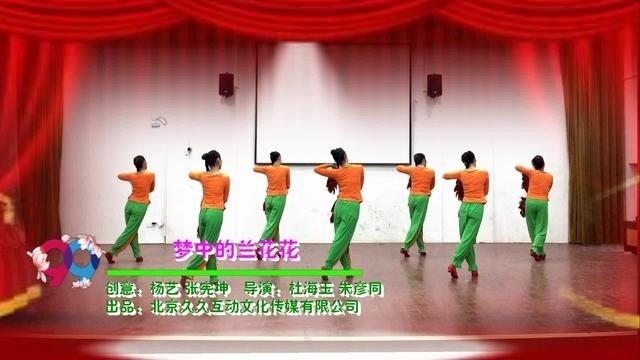 临安吴越蝶韵广场舞《梦中的兰花花 》 背面展示