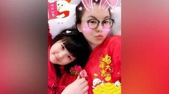 母女俩都瘦了!李湘王诗龄红衣拜年超喜气