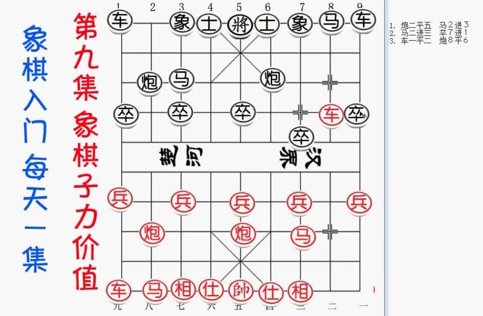 江湖象棋残局:象棋妙手10象棋的记谱