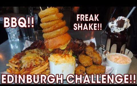 【Randy Santel】苏格兰美食挑战:肋排、汉堡、鸡翅、奶酪薯条