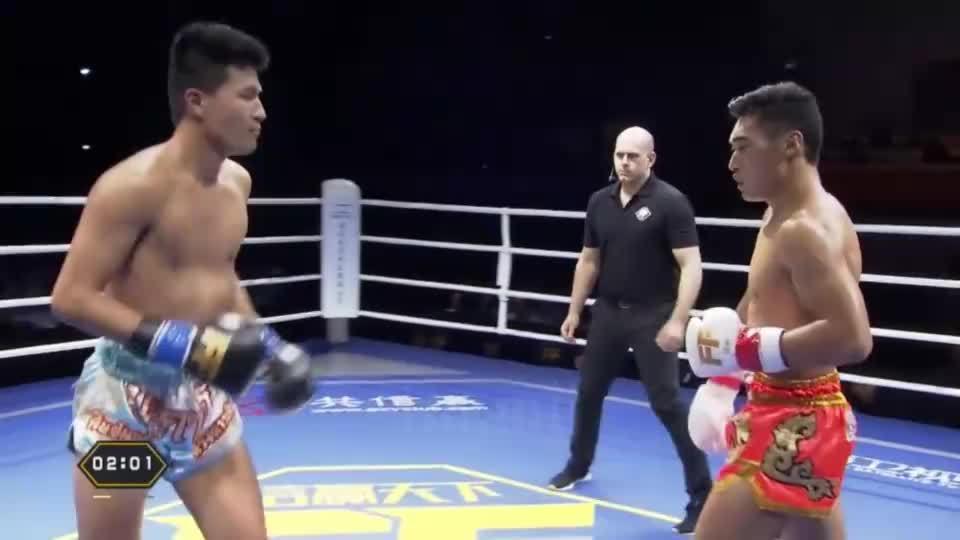 蒲冬冬VS日本泰拳冠军 一回合三次击倒对手