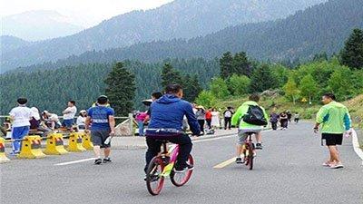 天山景区投放共享单车