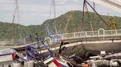 台湾南方澳大桥崩塌现场,车翻桥垮 ,4人遇难,仍有2人失联