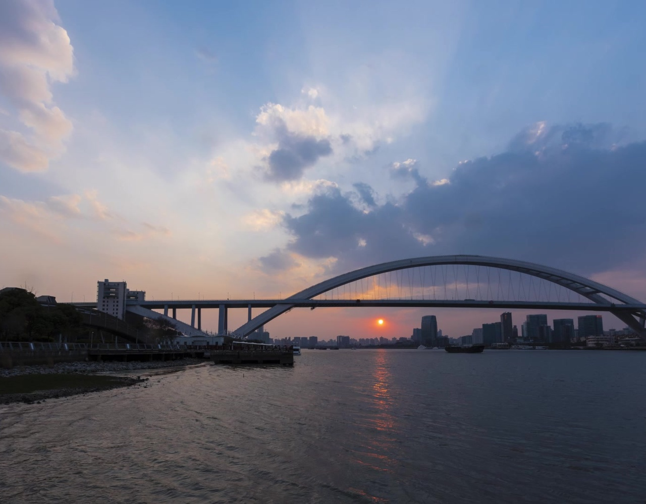 [延时摄影] 世博公园日落