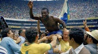 经典回顾:1970世界杯决赛巴西4-1意大利 贝利进球